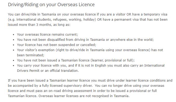 塔斯马尼亚驾照翻译NAATI三级证换塔州驾照英文说明