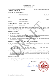 澳洲离婚令公证认证办理流程