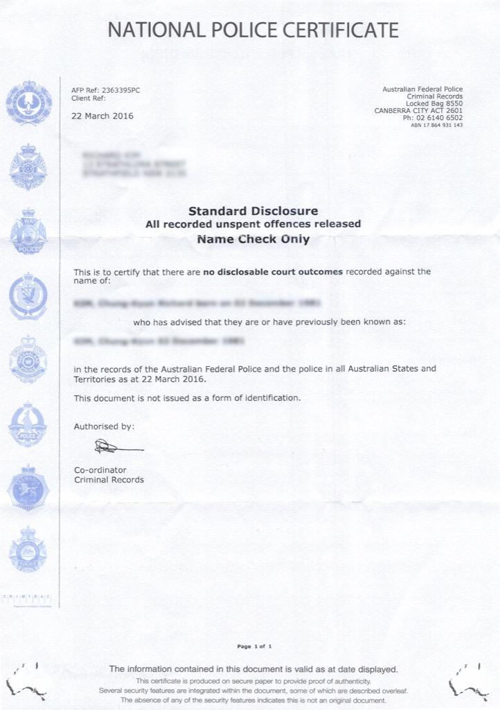 澳洲无犯罪公证认证办理流程